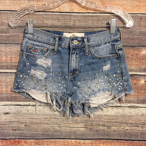 Hollister embellished distressed frayed shorts